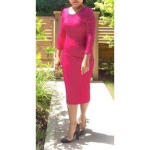 Magenta Bodycon Dress